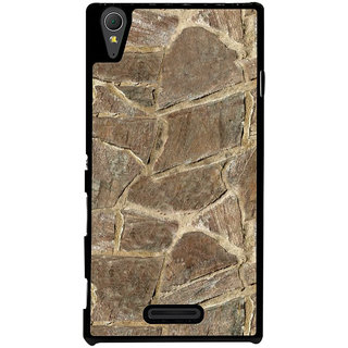 Ayaashii Marble Pieces Back Case Cover for Sony Xperia T3