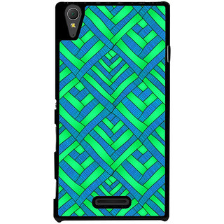 Ayaashii Diamond Pattern Back Case Cover for Sony Xperia T3