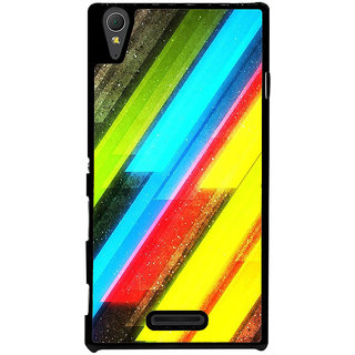 Ayaashii Cross Colors Abstract Back Case Cover for Sony Xperia T3