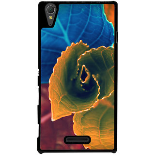 Ayaashii Colorful Leafs Back Case Cover for Sony Xperia T3