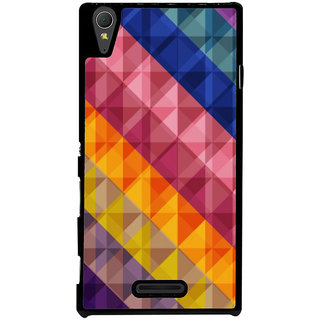 Ayaashii Diamond Abstract Back Case Cover for Sony Xperia T3