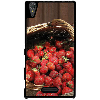 Ayaashii Litchi Basket Back Case Cover for Sony Xperia T3
