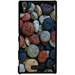 Ayaashii Stones Pattern Back Case Cover for Sony Xperia T3
