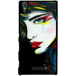 Ayaashii Crying Girl Painting Back Case Cover for Sony Xperia T3