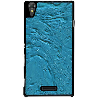 Ayaashii Blue Color Paint Back Case Cover for Sony Xperia T3