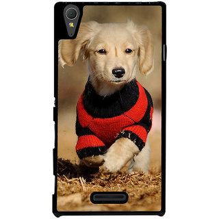 Ayaashii Cute Pet Dog Back Case Cover for Sony Xperia T3