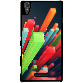Ayaashii Colorful Stics Back Case Cover for Sony Xperia T3