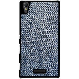 Ayaashii Jeans Cloth Back Case Cover for Sony Xperia T3