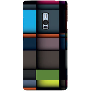 Ayaashii Colorful Abstract Back Case Cover for One Plus Two::One Plus 2::One+2