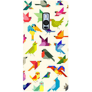 Ayaashii Birds Pattern Back Case Cover for One Plus Two::One Plus 2::One+2