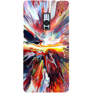 Ayaashii Mixed Colors Back Case Cover for One Plus Two::One Plus 2::One+2
