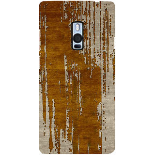 Ayaashii Wooden Stripes Back Case Cover for One Plus Two::One Plus 2::One+2
