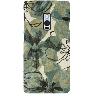 Ayaashii Flower Print Back Case Cover for One Plus Two::One Plus 2::One+2
