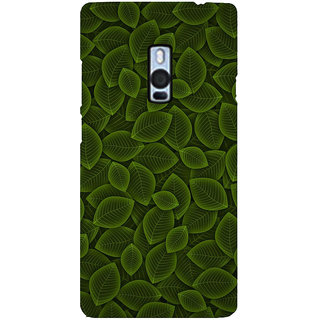 Ayaashii Leaf Pattern Back Case Cover for One Plus Two::One Plus 2::One+2