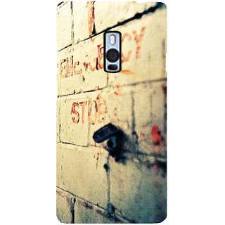 Ayaashii Emergency Stop Back Case Cover for One Plus Two::One Plus 2::One+2