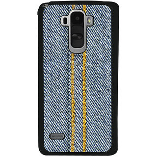 Ayaashii Jeans Cloth With Stich Back Case Cover for LG G4 Stylus