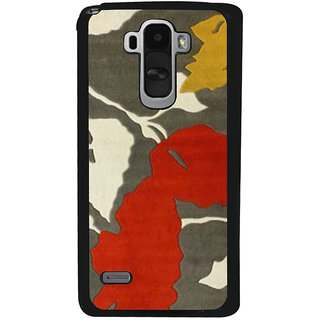 Ayaashii Leaf Pattern Back Case Cover for LG G4 Stylus