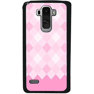 Ayaashii Pink Diamond Pattern Back Case Cover for LG G4 Stylus