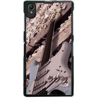 Ayaashii Guitar On Track Back Case Cover for Sony Xperia Z1::Sony Xperia Z1 L39h