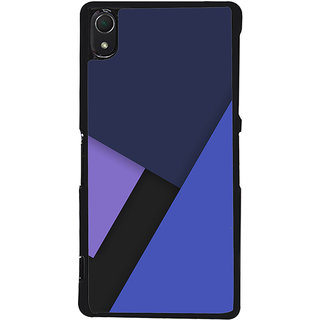 Ayaashii Blue Color Pattern Back Case Cover for Sony Xperia Z2::Sony Xperia Z2 L50W D6502 D6503