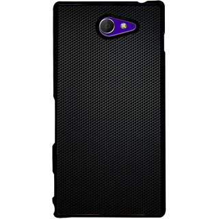 Ayaashii Black Net Pattern Back Case Cover for Sony Xperia M2 Dual D2302::Sony Xperia M2