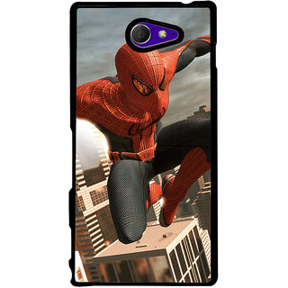 Ayaashii Spiderman Back Case Cover for Sony Xperia M2 Dual D2302::Sony Xperia M2