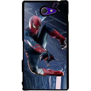 Ayaashii Ultimate Star Spiderman Back Case Cover for Sony Xperia M2 Dual D2302::Sony Xperia M2