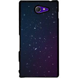 Ayaashii Stars Pattern Back Case Cover for Sony Xperia M2 Dual D2302::Sony Xperia M2
