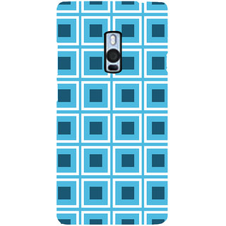Ayaashii Check Pattern Back Case Cover for One Plus Two::One Plus 2::One+2
