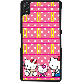 Ayaashii Kitty in Dotted Pattern Back Case Cover for Sony Xperia Z2::Sony Xperia Z2 L50W D6502 D6503