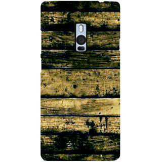 Ayaashii Wood Layered Pattern Back Case Cover for One Plus Two::One Plus 2::One+2