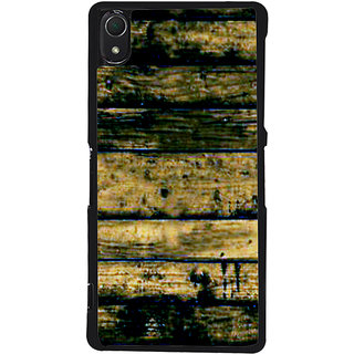 Ayaashii Wood Layered Pattern Back Case Cover for Sony Xperia Z2::Sony Xperia Z2 L50W D6502 D6503