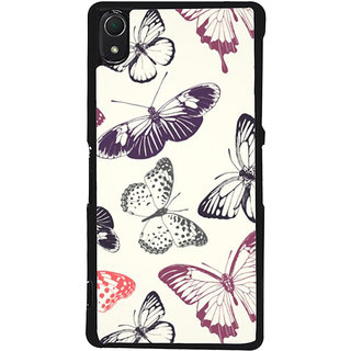 Ayaashii Butterfly Pattern Back Case Cover for Sony Xperia Z2::Sony Xperia Z2 L50W D6502 D6503