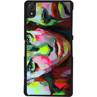 Ayaashii Face Painting  Back Case Cover for Sony Xperia Z3::Sony Xperia Z3 D6653 D6603