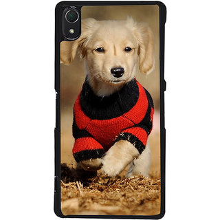 Ayaashii Cute Pet Dog Back Case Cover for Sony Xperia Z3::Sony Xperia Z3 D6653 D6603