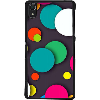 Ayaashii Colorful Circle Pattern Back Case Cover for Sony Xperia Z3::Sony Xperia Z3 D6653 D6603