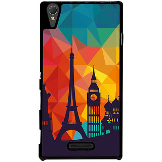 Ayaashii Colorful Background With Symbols Back Case Cover for Sony Xperia T3
