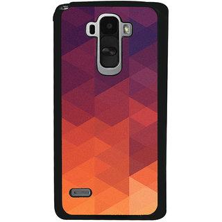 Ayaashii Orange Design Back Case Cover for LG G4 Stylus