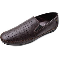Leather Craft Brown Colour Loafers For Mens