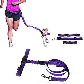 Futaba Running Pet Hauling Cable Collars Traction Belt - Purple