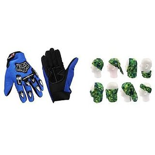 Combo Knighthood Hand Grip for Bike (Blue) + Buff Headwear