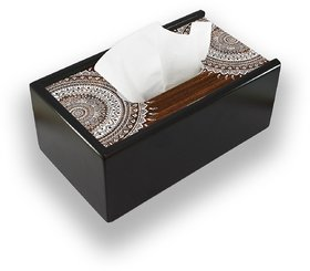 Indian Wood Decorative Wooden Tissue Box