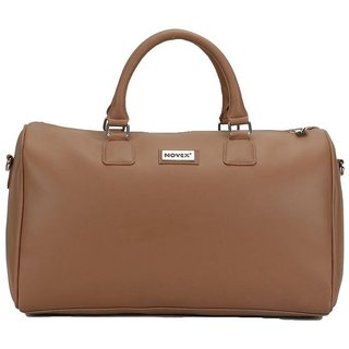 Novex Caze Brown Duffle Bag