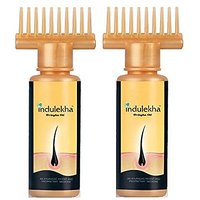 Indulekha Bringha Hair Oil Selfie Bottle, 100Ml (2 Pack)