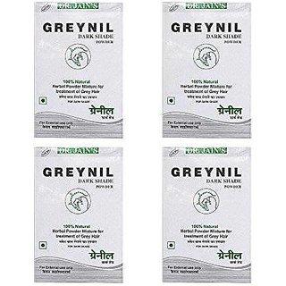 Dr. Jain'S Greynil Dark Shade Herbal Hair Colour Treatment - 100G (Set Of 4)