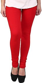 Women's Cotton Lycra Legging Red
