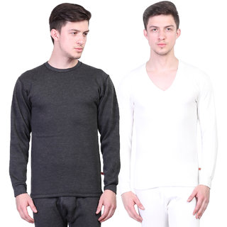 Vimal Winter King Black And White Thermal Upper For Men(Pack Of 2)