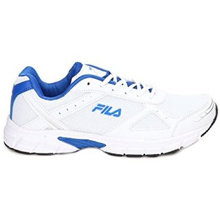 Fila white and blue running shoes