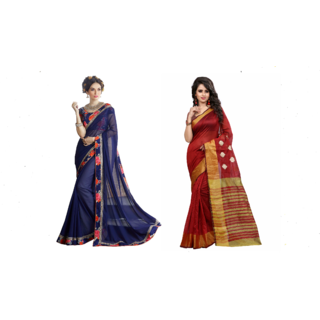 Pari Designer Multicolor Printed Georgette Saree