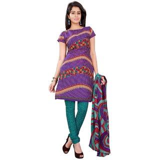 Aaina Crepe Printed Salwar Suit Dupatta Material (Un-stitched) (SB-2859-OCT)